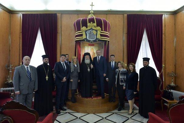 Delegatie PSD_Liviu Dragnea_Patriarhul Ierusalimului