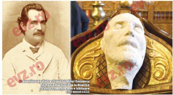 În Biserica voievodală Sfântul Gheorghe-Nou, de la Kilometrul Zero al României va fi așezat și un obiect cu valoare istorică deosebită, masca mortuară a poetului național Mihai Eminescu